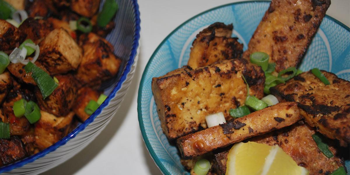 Lemon and Ginger Tofu Chinese spiced tofu
